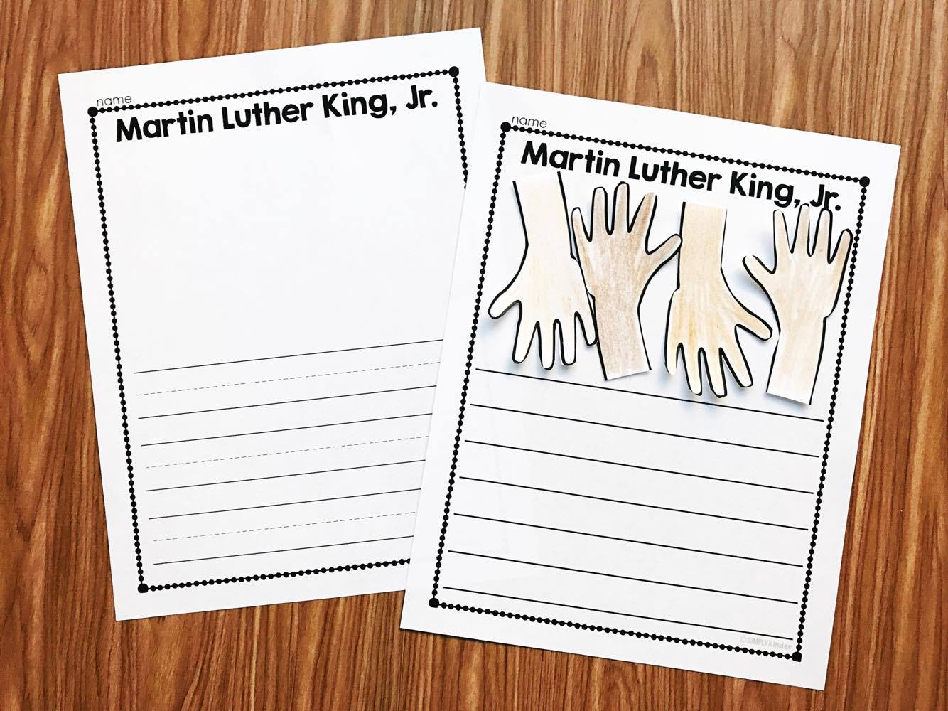 Martin Luther King Craft Story. Use the graphic organizers to plan a story and then complete the craft as the illustration. Perfect for kindergarten and first grade students.