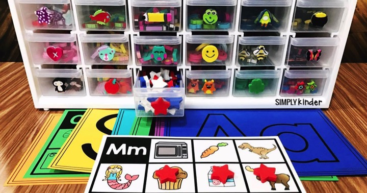Mini Eraser Storage & Activities