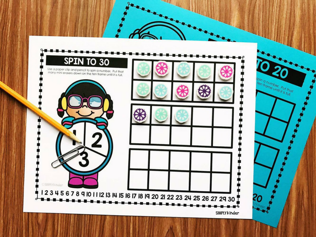 Mini Eraser Games: Spin To Games. Spin and fill up the ten frame.