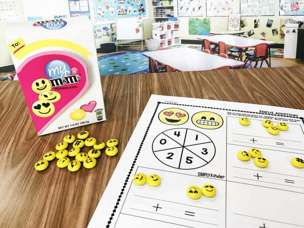 Free activities for Emoji Conversation Hearts and Emoji M&M's. These are prefect for preschool, kindergarten, and first grades.