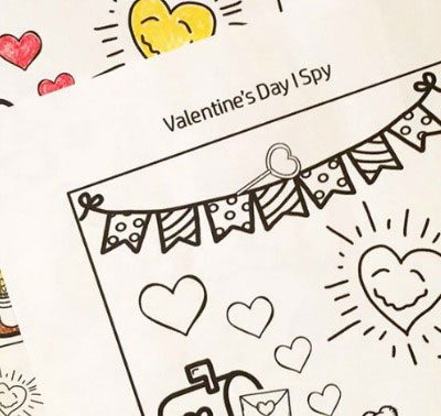 Valentine's Day I Spy Printable Worksheet
