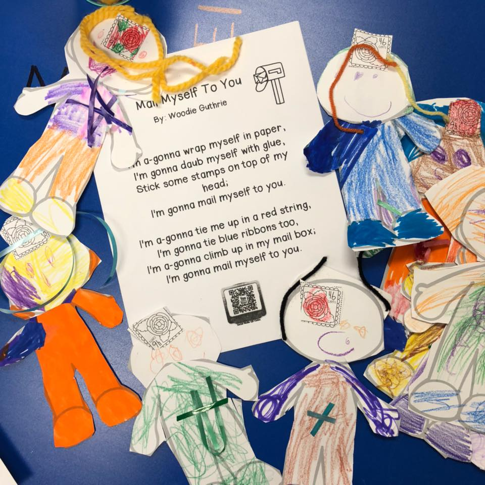 Mail Myself to You Free project to send home from Simply Kinder. A great family project for preschool, kindergarten, and first grade.