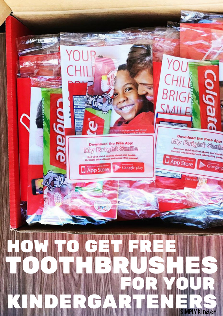 How to sign up for free toothbrushes for kindergarten teachers from Colgate.