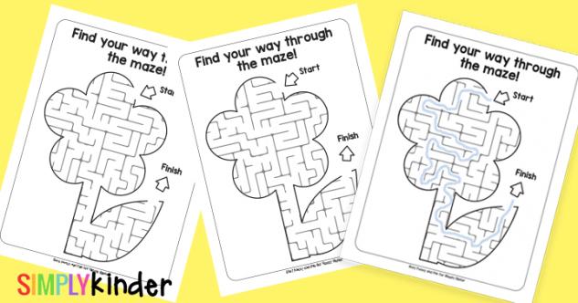 Printable Flower Mazes
