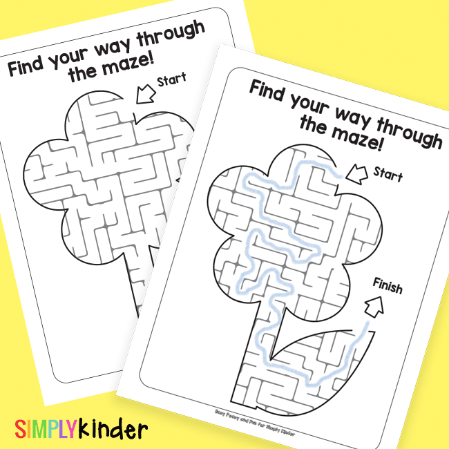 Printable Flower Mazes