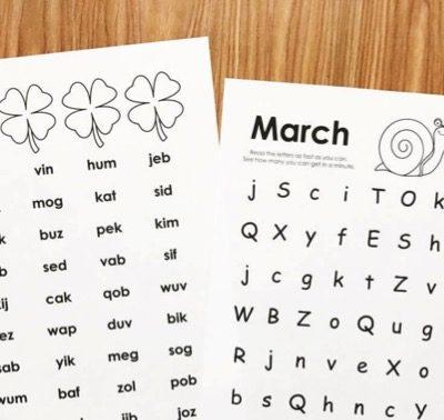 March Fluency Practice