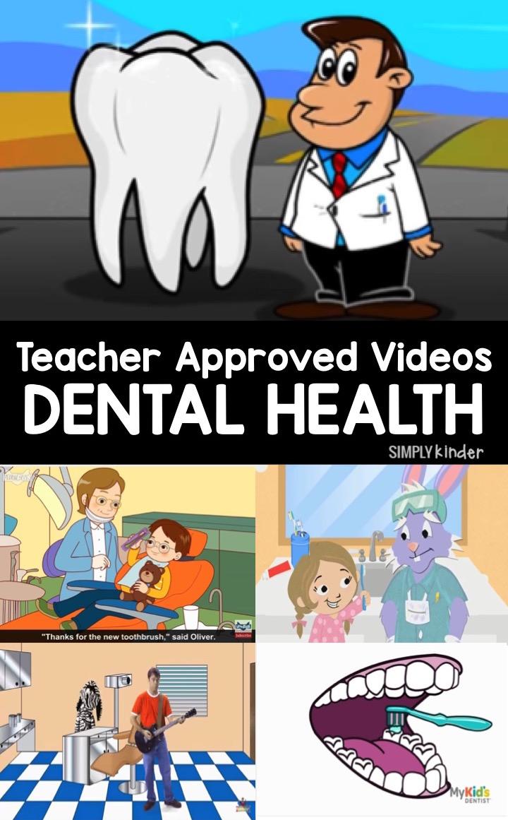 Teacher approved list of Dental Health videos for preschool, kindergarten, and first grades.