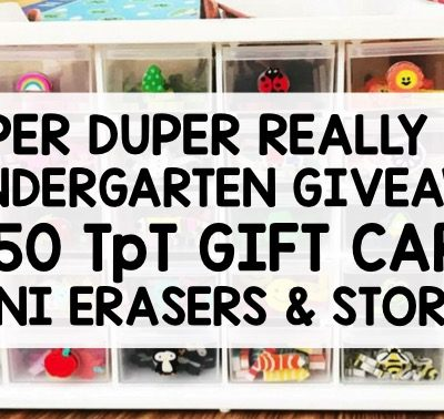 Huge Kindergarten Giveaway