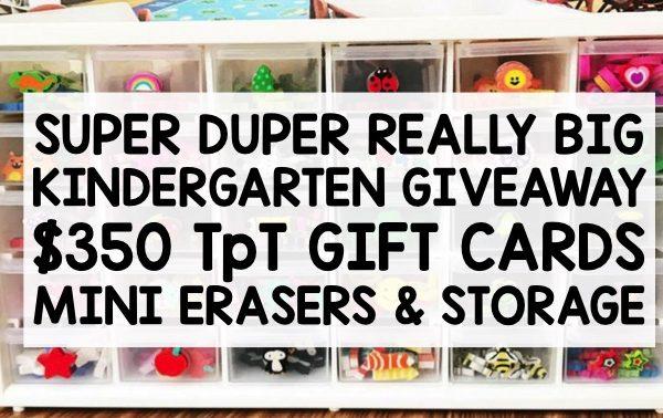 Huge Kindergarten Giveaway