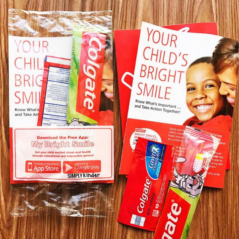 Free toothbrushes for your kindergarten students. These are great to order for your dental health month studies.
