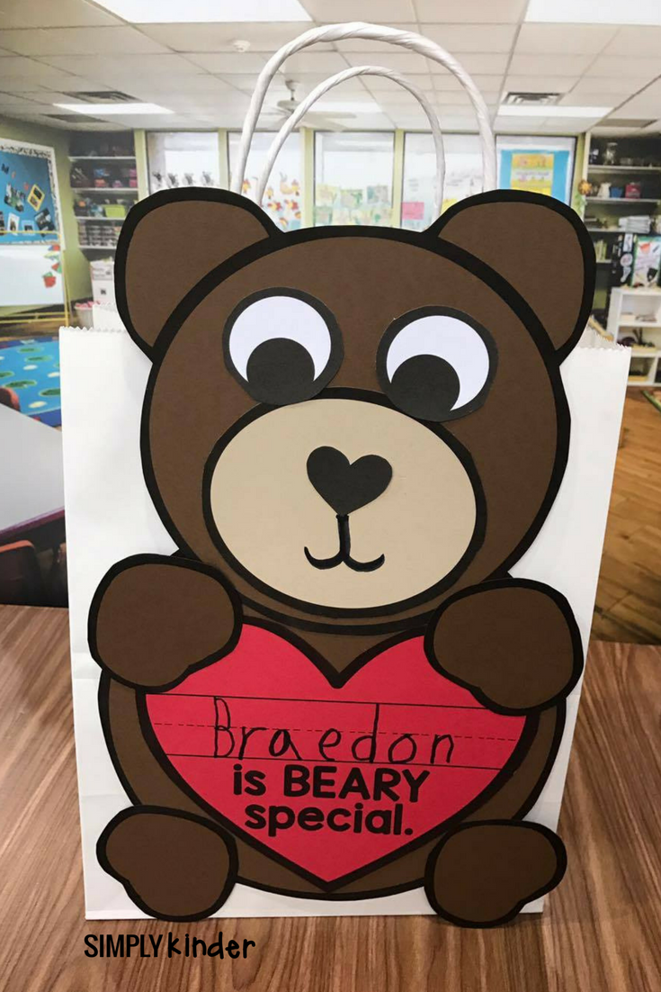 Beary Special Valentine's Day Craft is a perfect standalone for your preschool, kindergarten, and first grade students or makes a great Valentine's Day Bag.