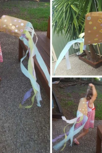 Paper Bag Kite Craft