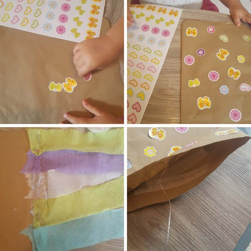 instructions for paper bag kite craft