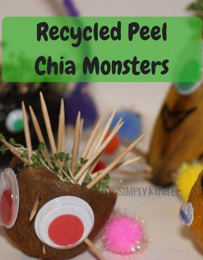 Recycled Peel Chia Monsters