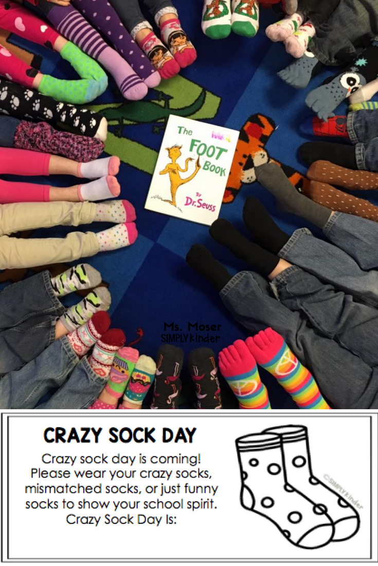 Crazy Sock Day Free Flyer to inform your families.
