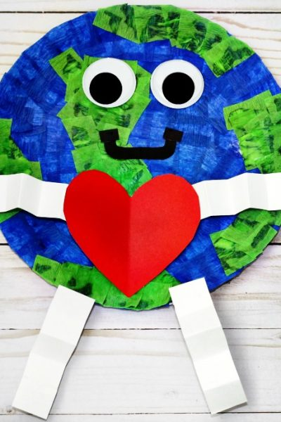 How To Make A Paper Plate Earth Day Craft