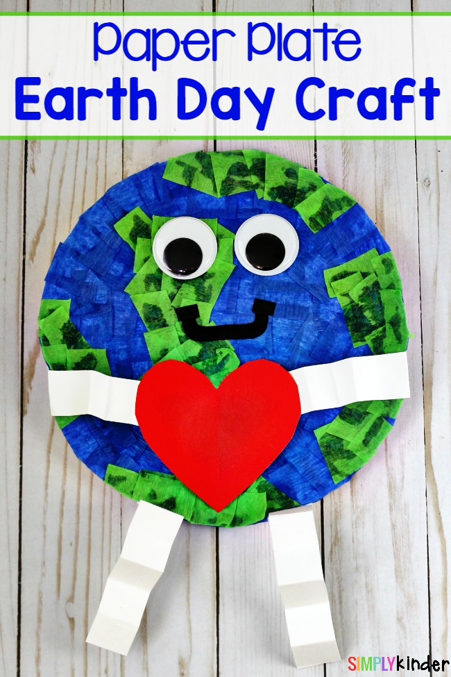 Paper Plate Earth Day Craft, Earth Day Craft, Paper Plate Craft, Earth Day
