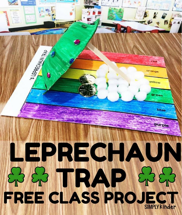Free Leprechaun Trap activity to do with your class. This is a great STEM activity for kindergarten, first, and second grade students.