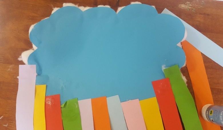 number bonds to ten rainbow craft steps 2