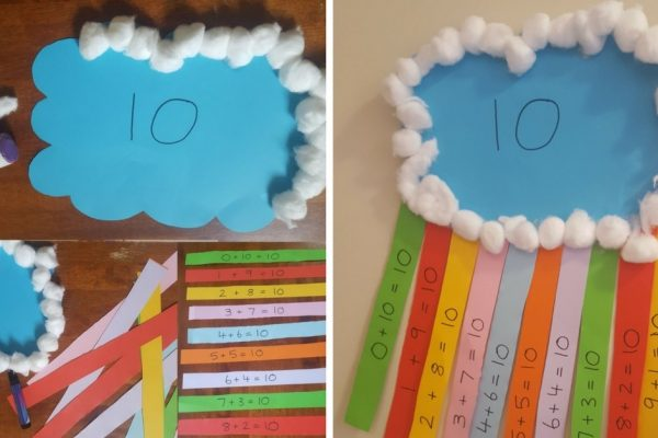 Number Bonds to Ten Rainbow Craft