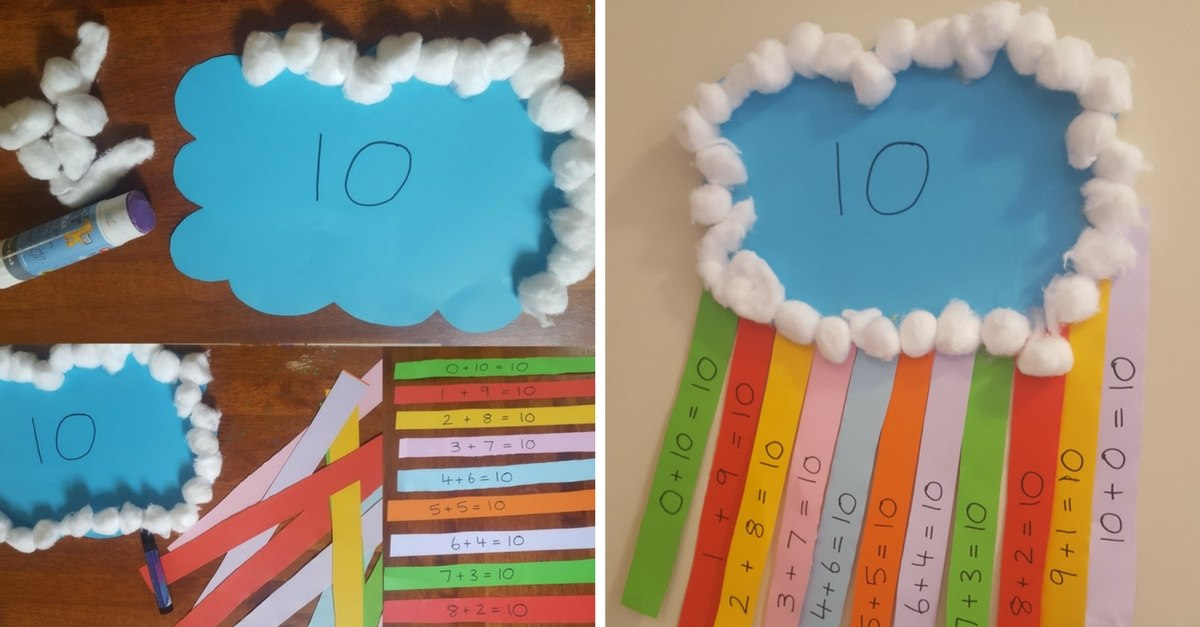 Number Bonds to Ten Rainbow Craft