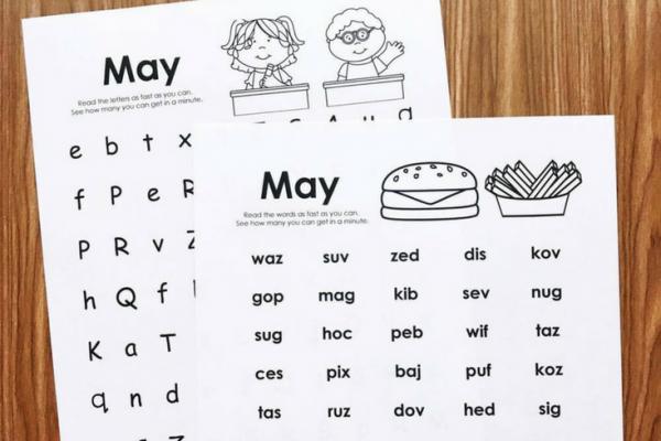 May Fluency Printables
