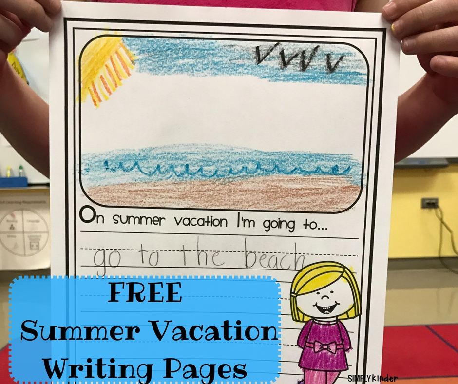 Free Summer Vacation Writing Pages