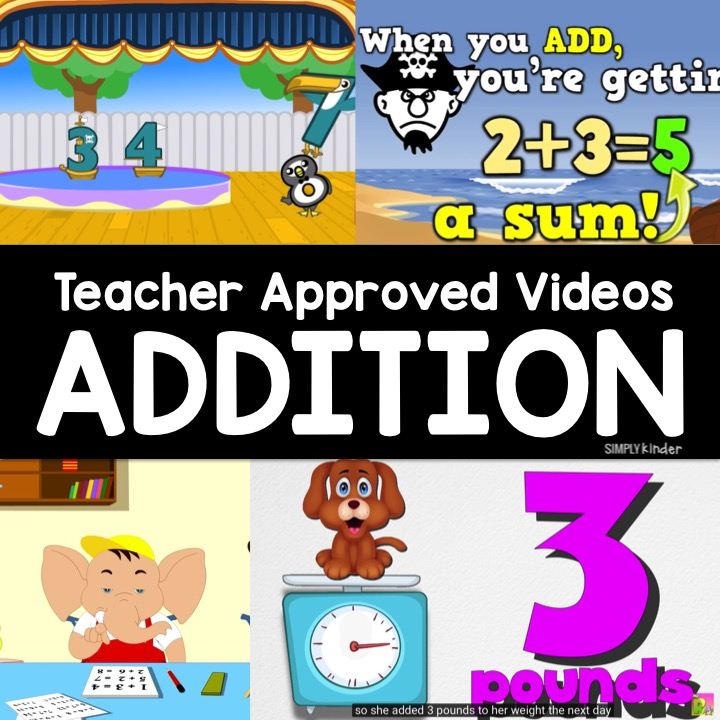 Addition Videos for kids. We reviewed YouTube and found these amazing, teacher approved videos perfect for preschool, kindergarten, and first grade!