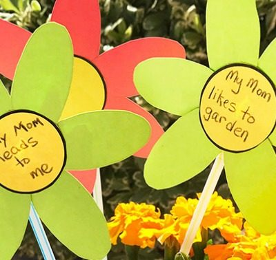 Mother's Day Spring Flower Craft for Kids