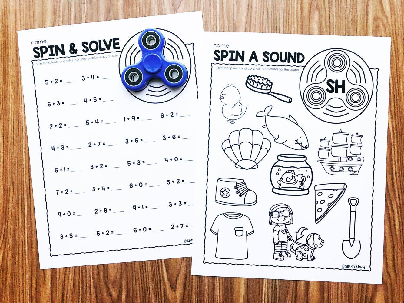 Fidget Spinner Activities for Kindergarten - Simply Kinder