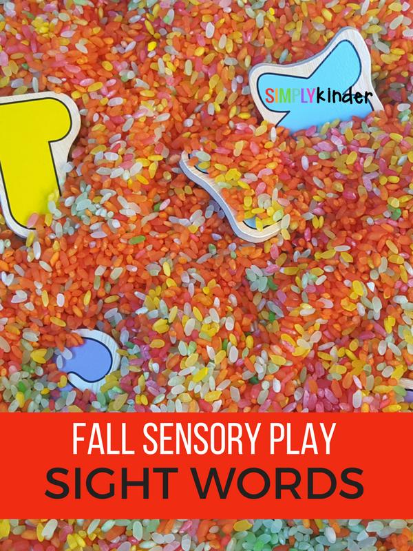 Fall Sensory Play Sight Words
