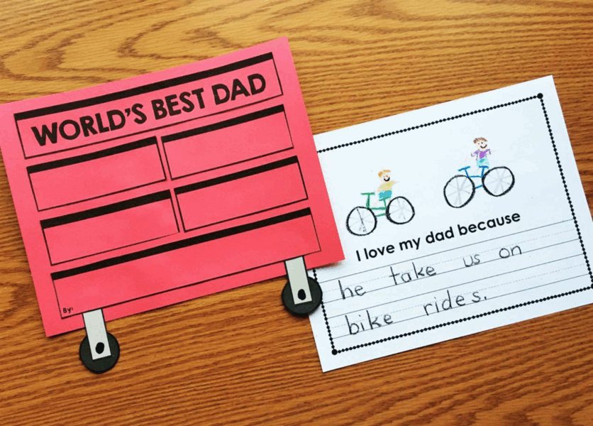 Father's Day Toolbox Book from Simply Kinder