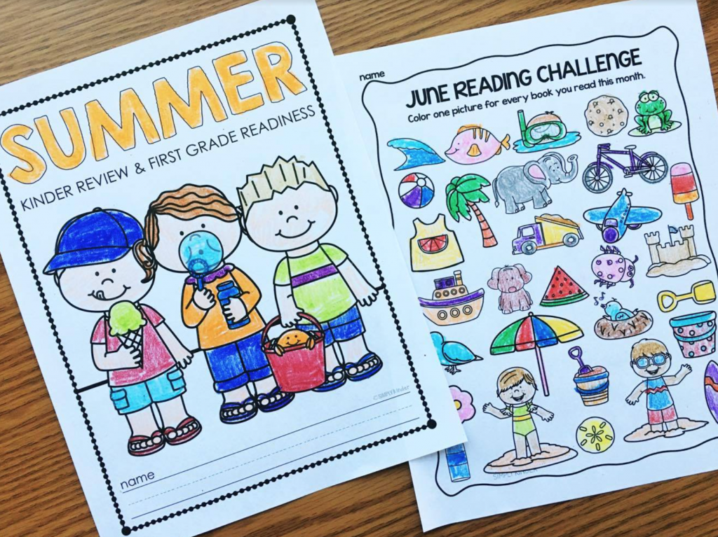 Summer Review Packet for Kindergarten from Simply Kinder. Send this home with your students to keep practicing what they learned all year. Activities include printables as well as fun reading logs, websites, and more!