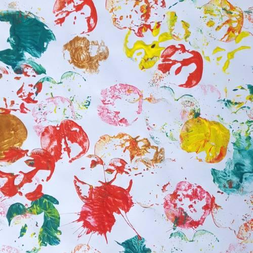 Fall Color Process Art Painting Exploring Fall Colors