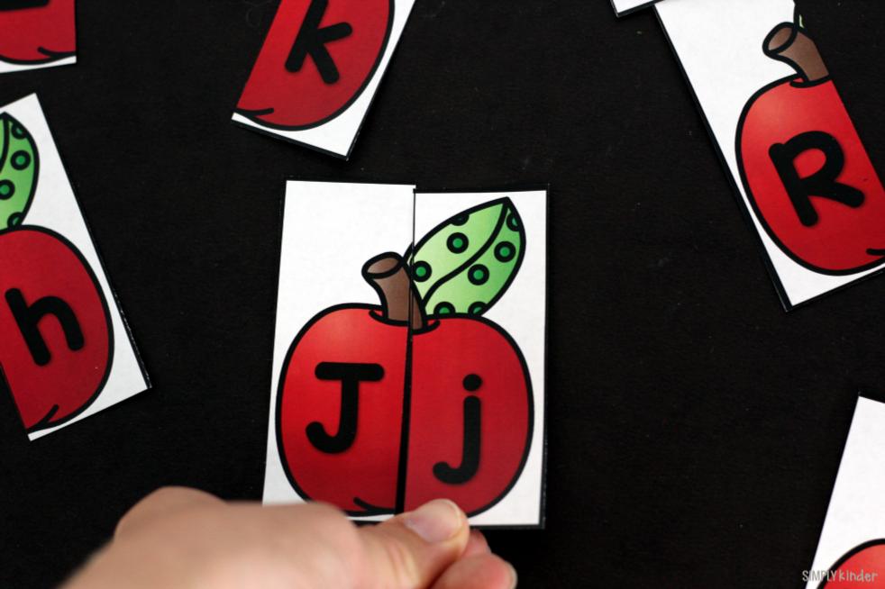 Free Printable Apple Alphabet Match