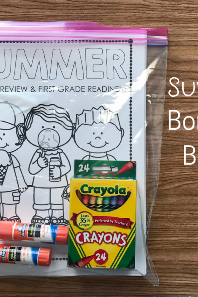Summer Boredom Buster Bag: Helping with Clutter and Summer Slide
