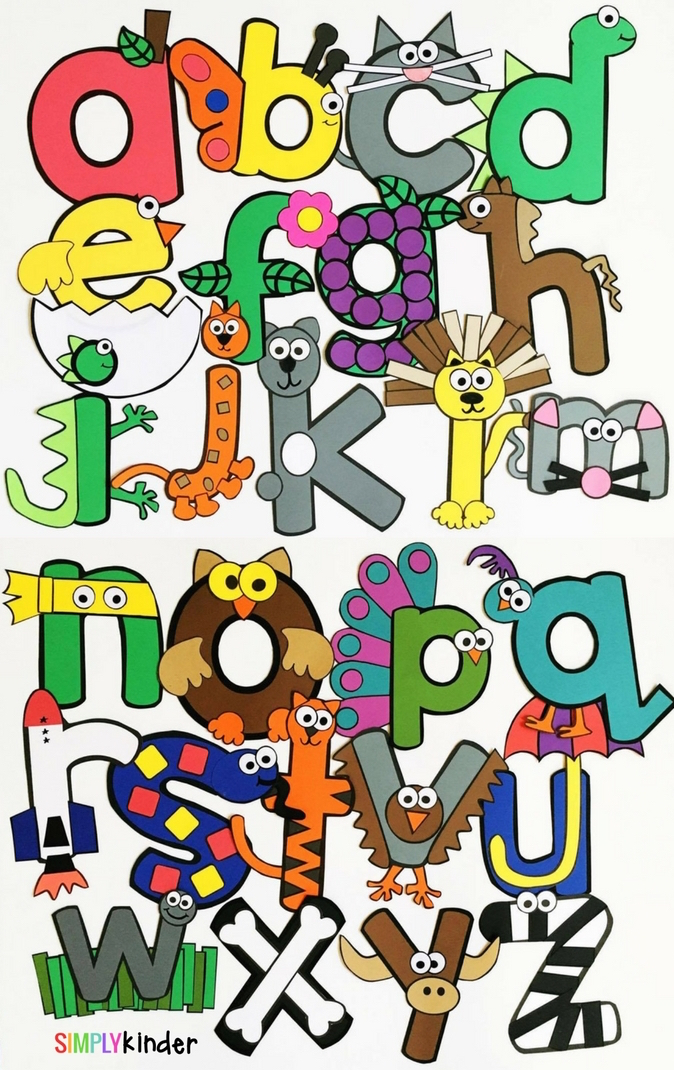 Alphabet Crafts from Simply Kinder