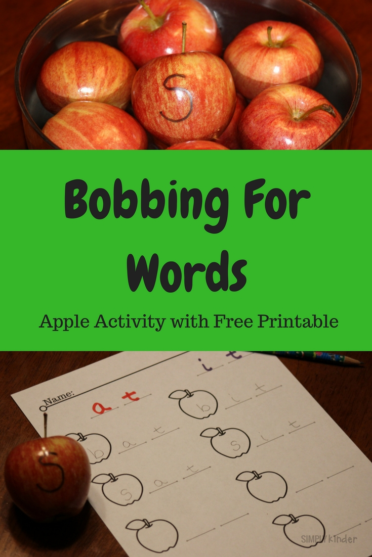 Bobbing For Words: Apple Activity and Free Printable