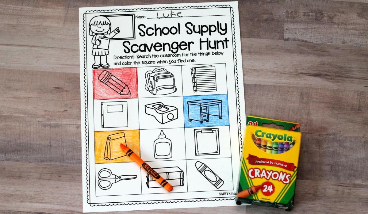 School Supply Scavenger Hunt