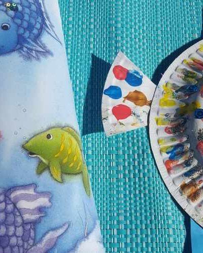 Rainbow Fish Paper Plate Craft