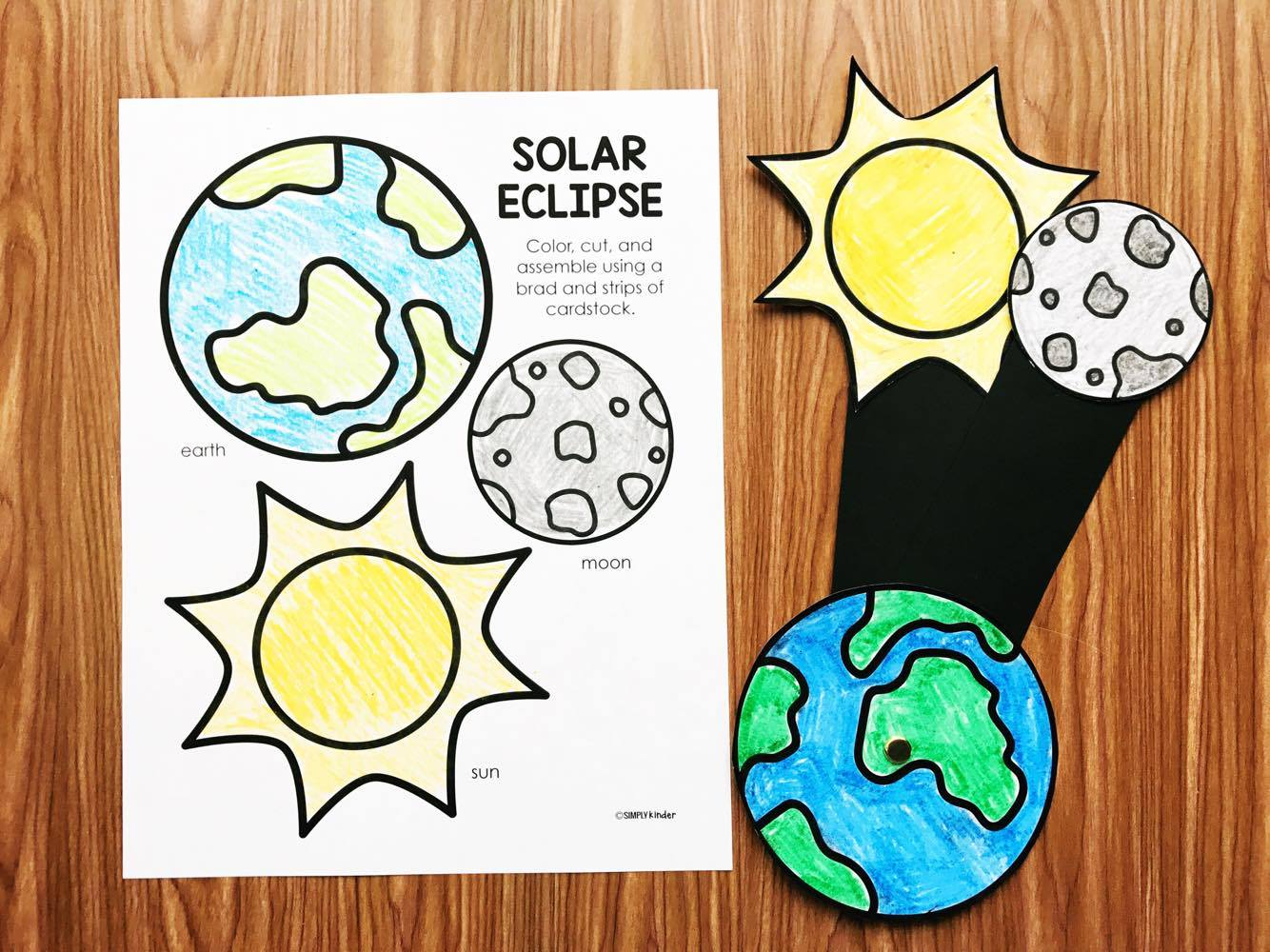 Eclipse Activities for Kindergarten.