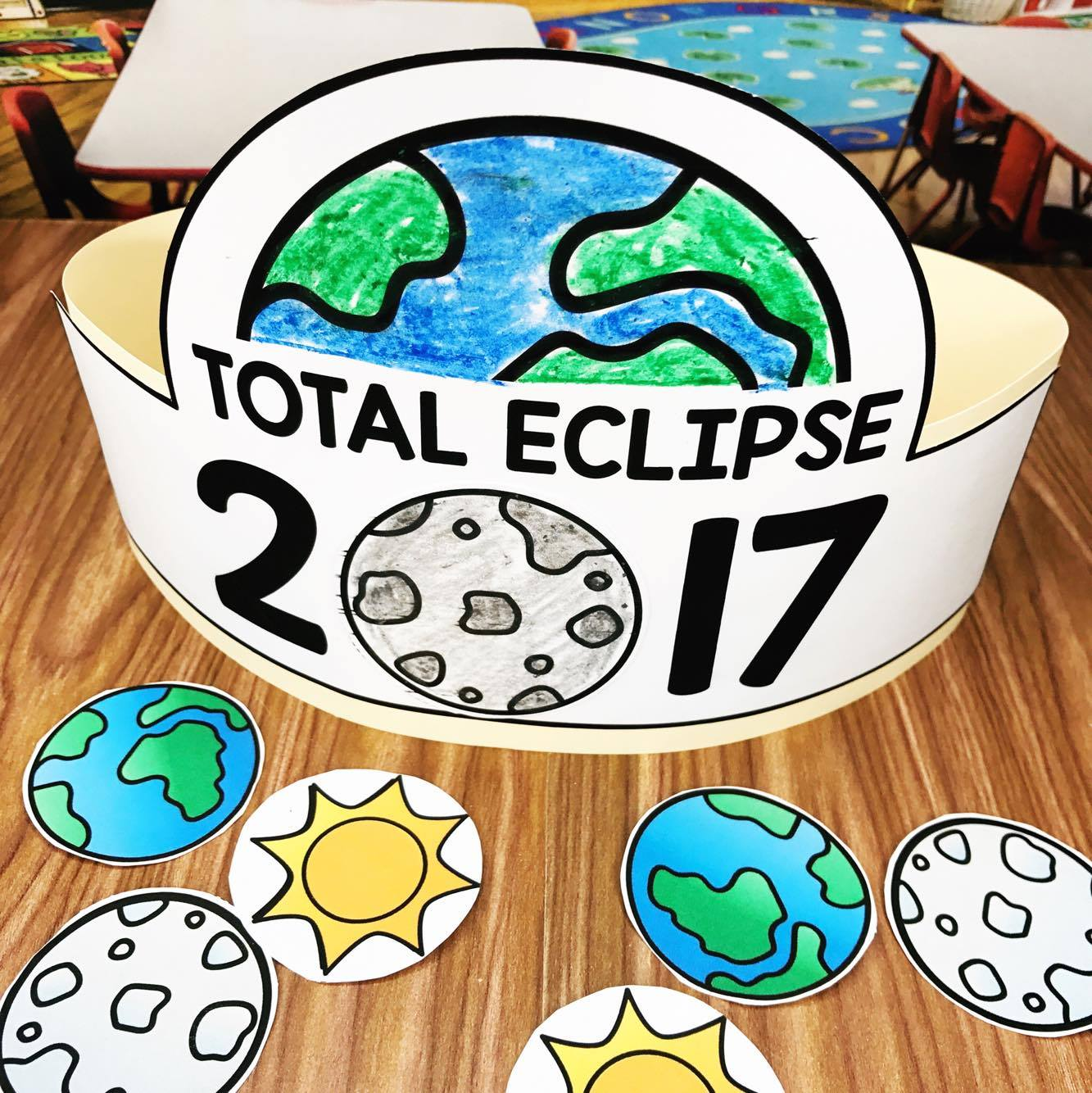 Eclipse Activities for Kindergarten, Preschool, and First Grade students!