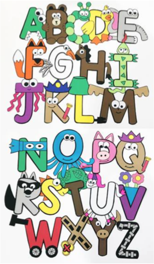 Uppercase Alphabet Crafts by Simply Kinder