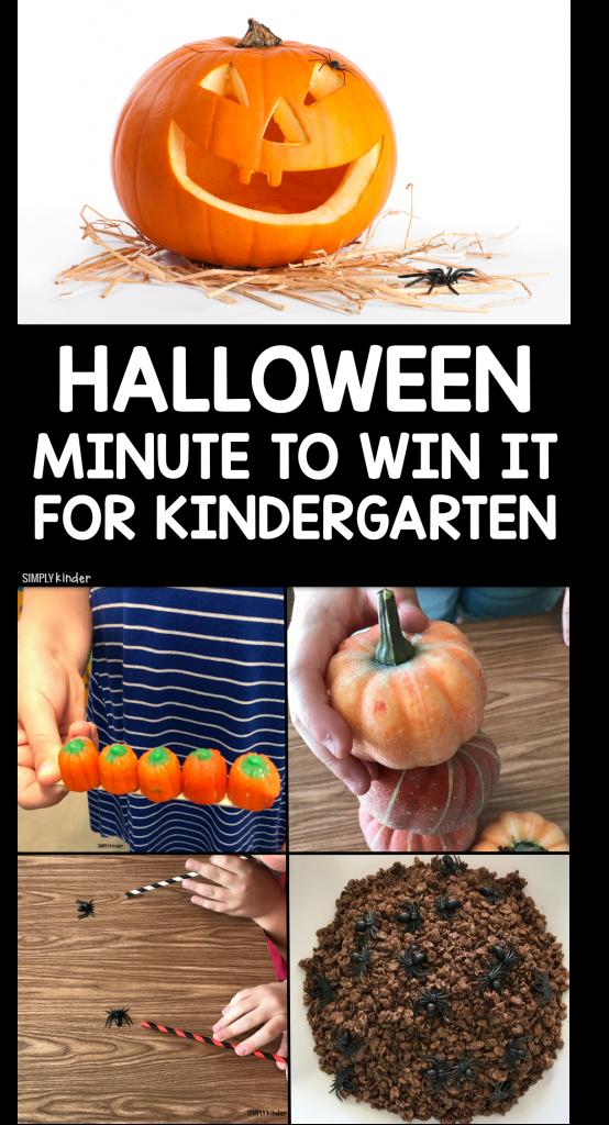 Halloween Minute to win it for kindergarten