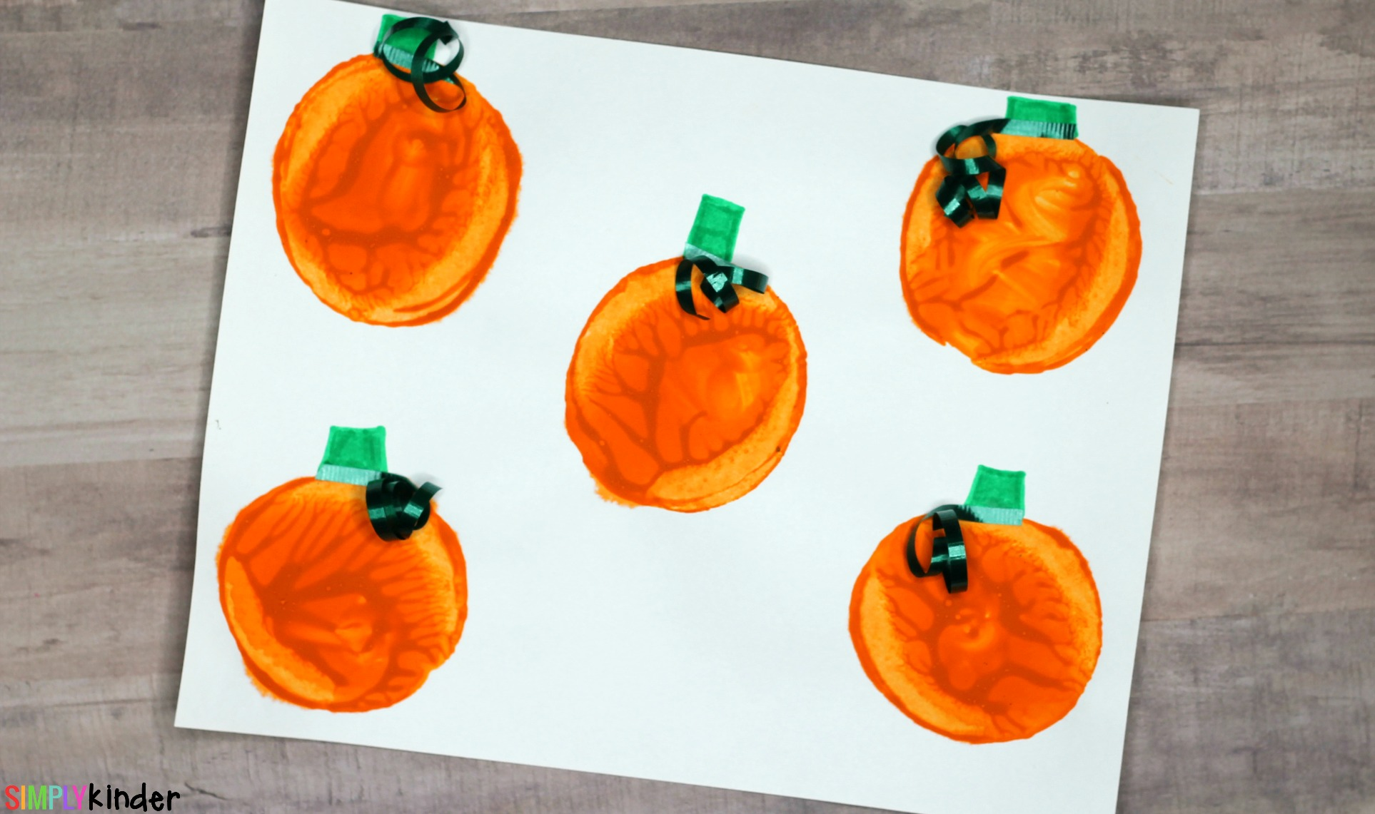 Potato Stamped Pumpkin Patch Process Art Craft