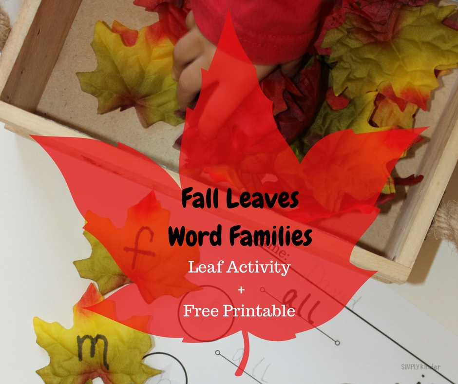 Fall Leaves Word Family Activity and Free Printable for Kindergarten, Preschool, First Grade
