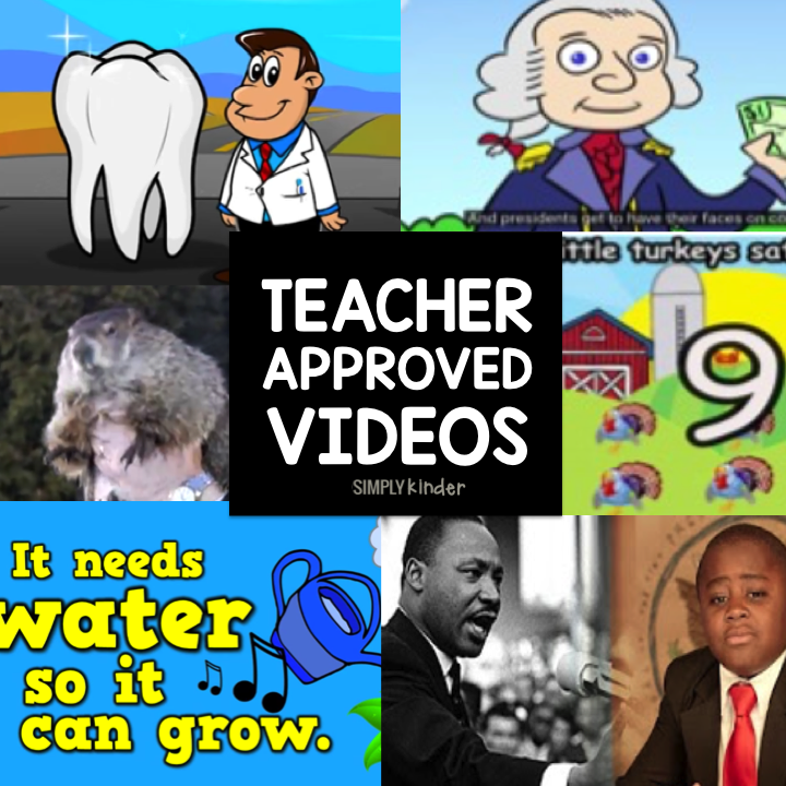 A master list of teacher approved videos that teach. Topic that are appropriate for preschool, kindergarten, and first grade students.