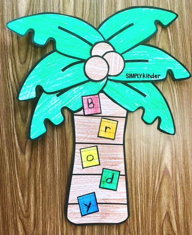 Make this fun Name Palm Tree with your students to practice the letters in their names. Print the blank template or type in the students' names using a tracing font! This is a fun names activity that your preschool, kindergarten, and first grade students will love!