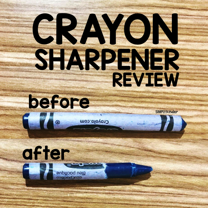 Check out this fun crayon sharpener! It takes a dull crayon and makes it fresh and new! Crayon Sharpener Review from Simply Kinder.