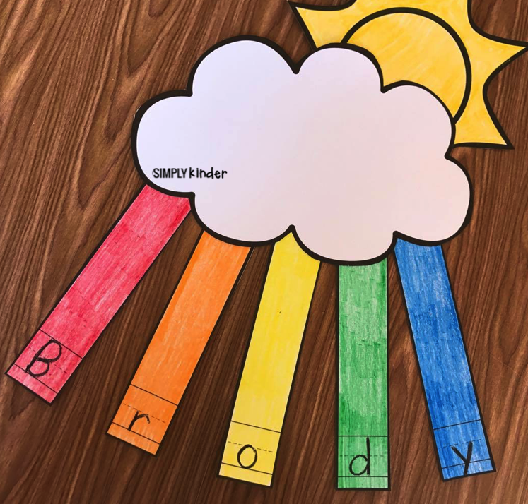 Make these fun name rainbows with your students to practice their names. Print the blank template or preprogram the student's names in using a tracing font. Create this fun name rainbow with your preschool, kindergarten, and first grade students to create a beautiful display!